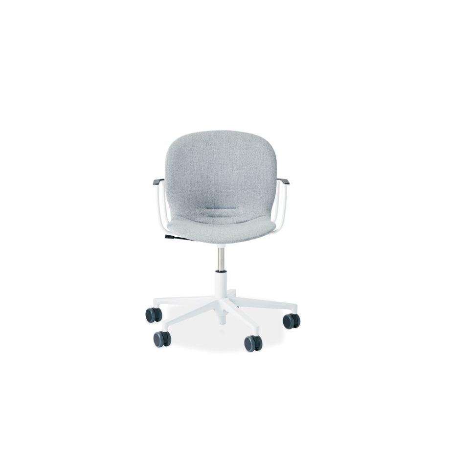 RBM Noor 6070F Snow fivestarbase armrests fabric Suldal 125 GU Front productNewspaper
